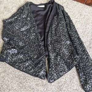 Abercrombie Black Long Sleeve Blazer with Silver